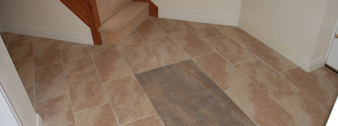 Porcelain Tiling to Hall, Kitchen and Utility